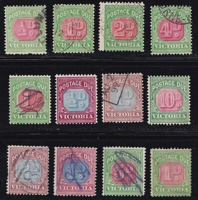 Stamps Australia - Victoria Postage Due Lot - Mixed Condition.