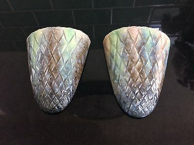 1930's Art Deco  Wade / Sylvac Pair of Wall Sconce / Pocket / Vases