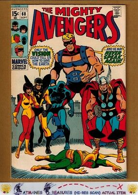 Avengers #68 (7.0) F/VF Ultron Appearance 1969 Silver Age Key Issue