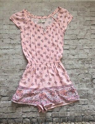 Abercrombie kids Small Shorts Romper Jumper Pink Floral Print S