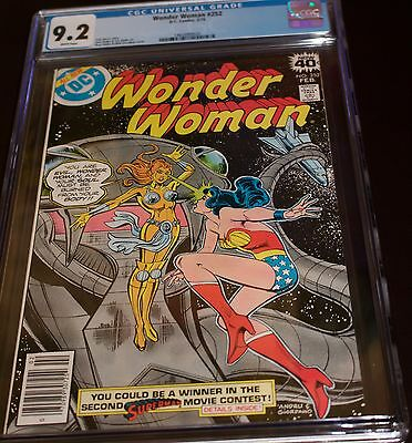 Wonder Woman #252 Cgc 9.2 White! Pgs. Black Tough Cover & Perfect! Should Be 9.6