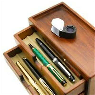 Toyooka Wooden Fountain Pen Storage Box Collection Case 8 pens  from Japan F/S