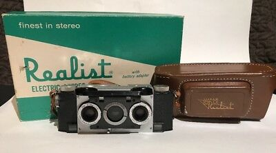 Stereo Realist Camera f/2.8 • David White Co. w/ Electric Stereo Viewer Bundle