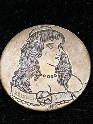 Young Girl Engraved on O Mint Liberty Seated Quarter Possible Love Token Unique