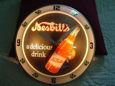 Double Bubble Clock ***rare Scarce*** Nesbitt's Orange *** Replica **a Beauty**