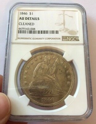 1846 Seated Dollar NGC AU Details