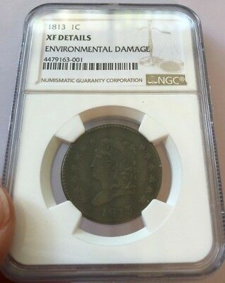 1813 Large Cent NGC XF Details