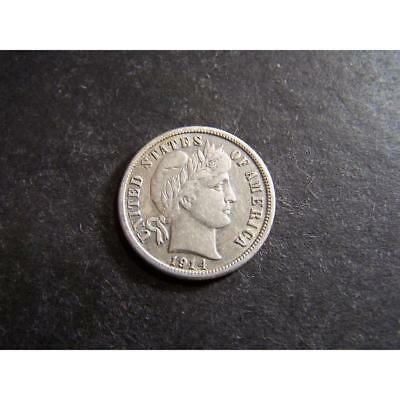 1914-S BARBER DIME (GREAT DETAILS / RARE S MINT MARK !!!!!!!!!!!!!!!) Lot 46