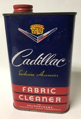 Rare Vintage Cadillac Auto Fabric Cleaner Can Auto Car Advertising, Empty