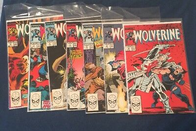 Wolverine #2-7,9 Most NM