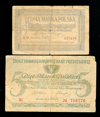 1919 Poland 1 And 5 Marek Notes