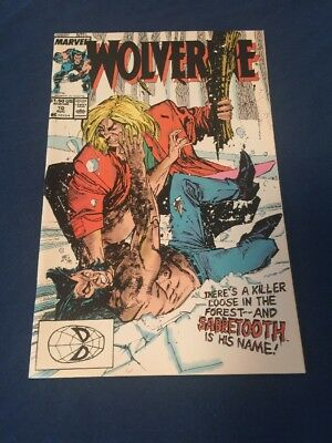Wolverine #10 (Aug 1989, Marvel) Sabertooth Vs Wolverine NM-