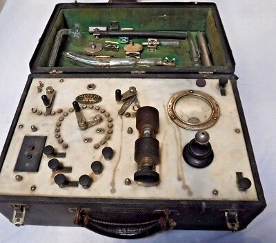Antique Electric Shock Therapy Machine Medical Quack Box Aloe Lightning St Louis