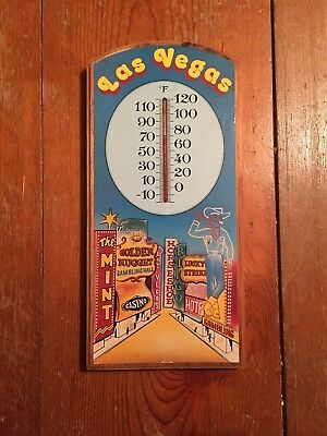 Las Vegas Sign And Thermometer