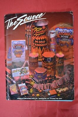 Firecracker label 1999 The Source Midwest fireworks catalog bagged and boarded