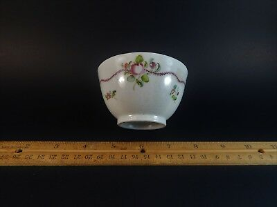 Adorable Antique Chinese Export Famille Rose Deutsche Blumen Cup 18th C China