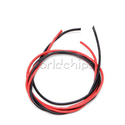 Red Black 14 AWG 2M Gauge Wire Flexible Silicone Stranded Copper Cables for RC