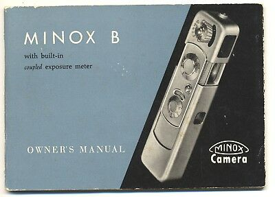 Minox B Owner's Manual, Very Good Condition!