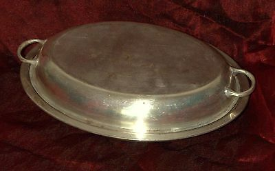 Antique Old Silver Plated Tureen Serving Dish And Cover Charger EPNS England