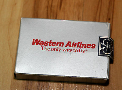 Vintage Western Airlines Playing Cards, Sealed