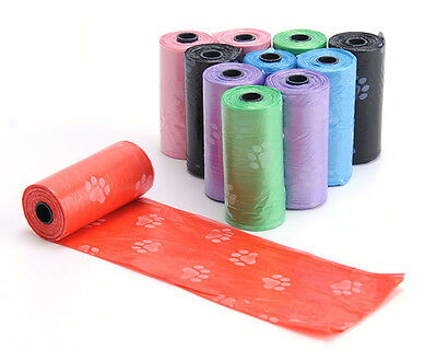 10Roll=150PCS Degradable Pet Dog Waste Poop Bag With Printing Doggy Bag
