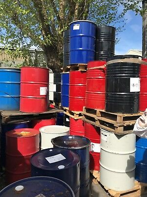 4 x Used 45 gallon / 205 litre oil drums, £20 for 4.