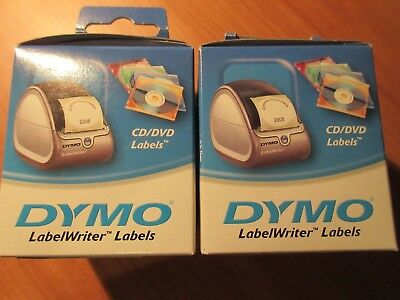 2 x DYMO LabelWriter CD and DVD Labels 57mm 160 Pack x 2 free postage 1 lot only