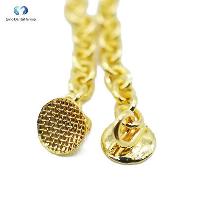2PCS Dental Orthodontic Golden Eruption Appliance with Round Traction Chain