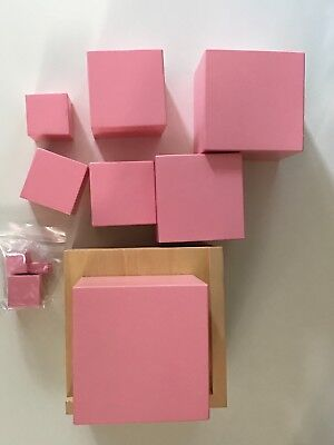 New and unused Montessori Pink Tower with Stand