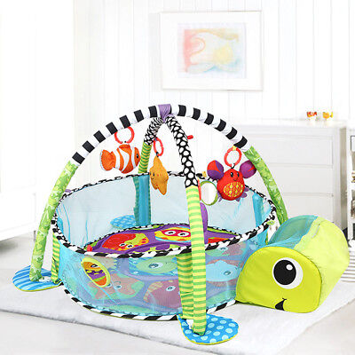 Infant Baby Activity Gym Playmat Carpet Mat Floor Rug Toddler Kid Play Toy Set