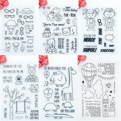 Silicone Clear Transparent Rubber Stamp Cling Diary Scrapbooking DIY Craft Hot