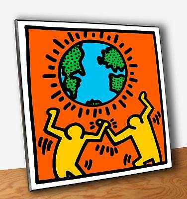 Quadro Pannello mdf - Keith Haring World - Stampa Fine Art su Legno ( OUTLET )