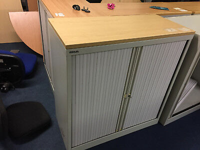 Bisley Contract Tambour Lockable Office Storage Cupboards / Filing Systems