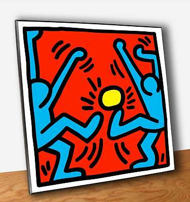 Quadro Pannello mdf Keith HARING Pop Shop Calciatori Stampa su Legno (OUTLET)
