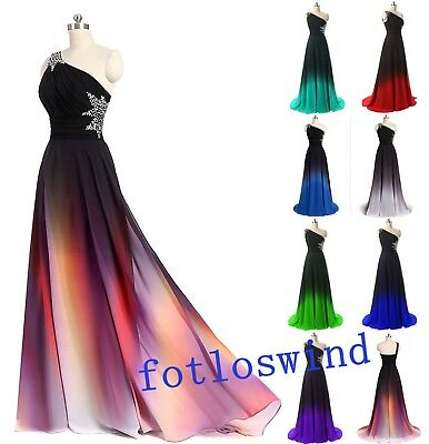 Long New Gradient Evening Formal Party Ball Gown Prom Bridesmaid Dress Size 6~20