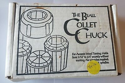 """Beall 3/4"""" -16 Collet Chuck with 2 collets"""
