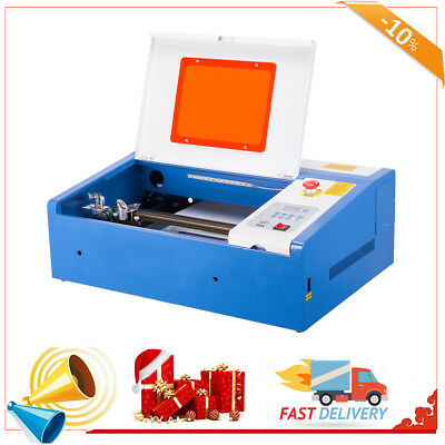 Upgraded 40W CO2 Laser Engraver Cutting Machine Crafts Cutter USB Interface.
