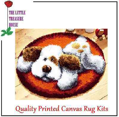 Playful Puppy Latch Hook Rug Kit - Rug Making - Everything included