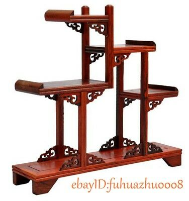 Nice Chinese suanzhi wood carved put small curio stand/shelf or Anique display d