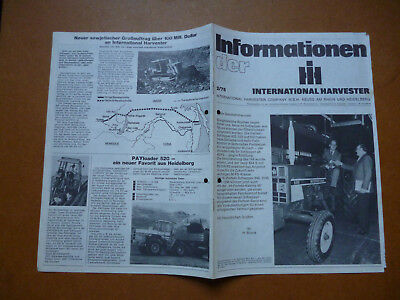 INTERNATIONAL HARVESTER COMPANY   Original alte Informationen der iH  2/75