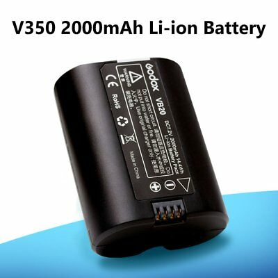 Godox VB20 7.2V 2000mAh Li-ion Battery for Godox V350S/C/N/O/F Speedlite Flash