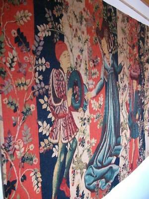 "French Tapestry By Robert Four "" Baillée Des Rose"" Paris Aubusson"