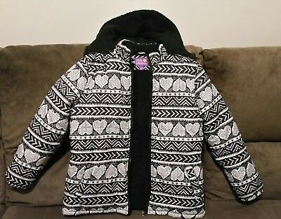 Girls Pink Platinum Size 14-16 Winter/Camping Jacket with Hood in exc condition