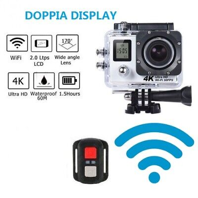 Gopro Telecamera Wifi Wireless 4K Sport Camera 170° Ultra Hd Go Pro Telecomando