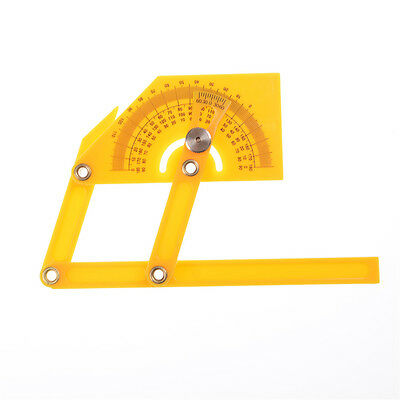 Portable 0-180 Degrees Angle Finder Plastic Protractor Goniometer Miter Gauge GX