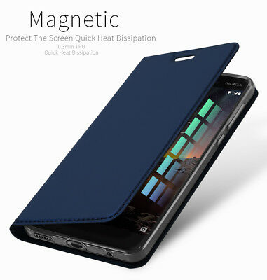 DUX DUCIS For Nokia 6.1 (2018) PU Leather Magnetic Flip Case Wallet Smart Cover