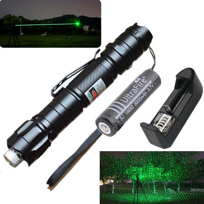 Professional Green Laser Pointers Pen Lazer Beam with 18650 Battery Charger UK