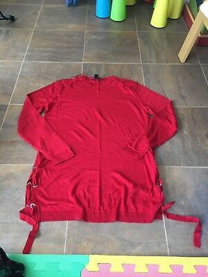 Red new look maternity jumper size 10 tie sides great condition.