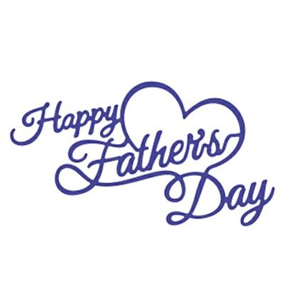 Happy Fathers Day Sign Cutting Die DIY Cards Stencil Embossing Die Cut