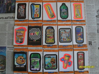 über 120 Topps Wacky Packages Stickers 2012,mit Awful Apps + Lame Games Inserts